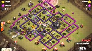 Clash of Clans, Clan Jedi Legacy, hog rush attack in Clan Wars