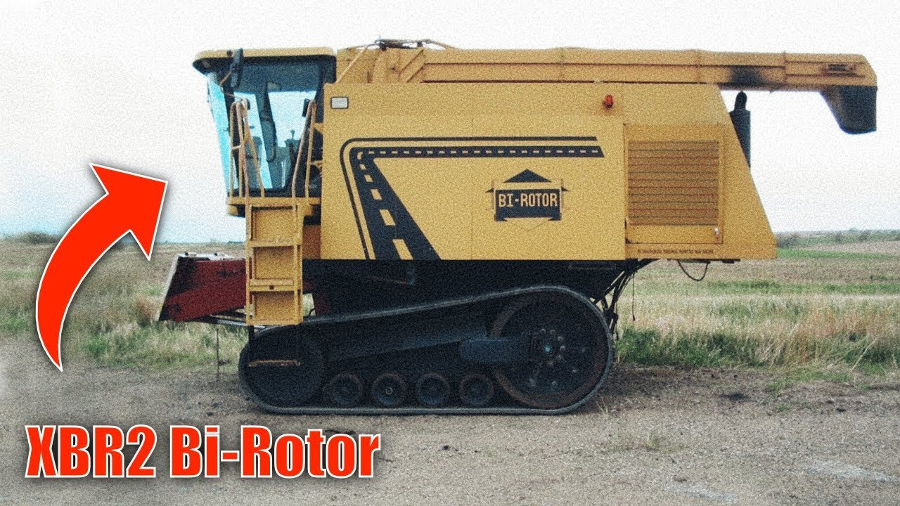 THE STRANGEST COMBINE HARVESTER IN THE WORLD - History of XBR2 Bi-Rotor  [Matheo780]