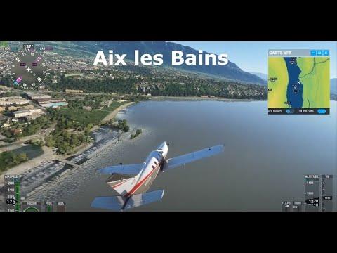 Le LAC DU BOURGET dans Microsoft Flight Simulator ! (SAVOIE)