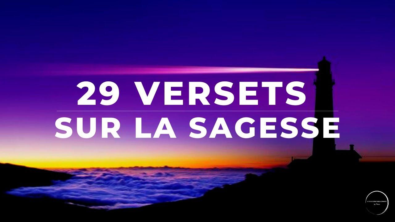 29 VERSETS SUR LA SAGESSE