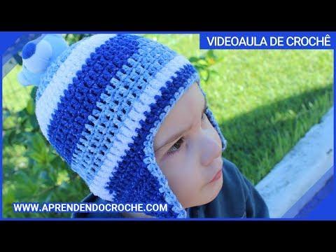 Gorro de Crochê Kids Ursinho - Aprendendo Crochê - YouTube 9f1b9a51d7b
