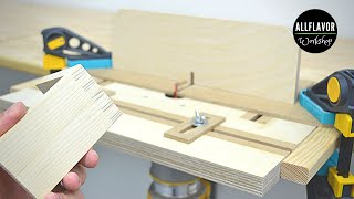 Finger Joint Jig for Benchtop Router Table | DIY Box Joint Jig