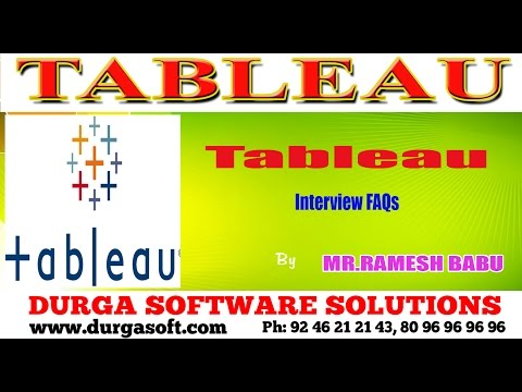 Tableau || Interview FAQs