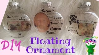 Floating Ornament | In memory of | Print then Cut