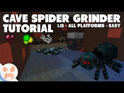 Minecraft 1.13+ Cave Spider Grinder Tutorial   Simple, Easy, Efficient