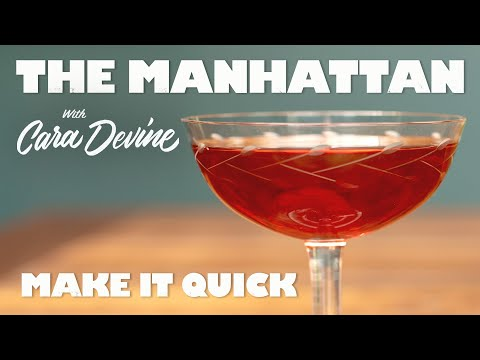 How To Make A Classic Manhattan Cocktail QUICK!