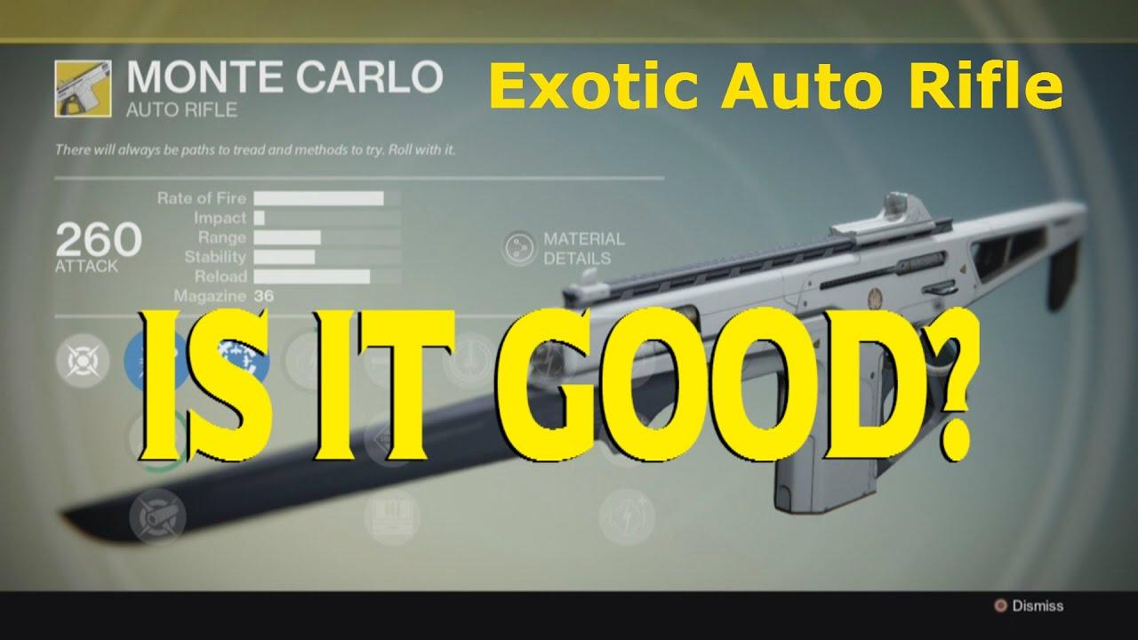 destiny monte carlo exotic auto rifle is it good 54 pvp