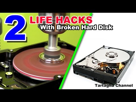 2 AMAZING Life Hacks - Turn HDD into Lathe and sander