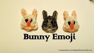 Rainbow Loom Bunny Face Emoji/Emoticon - How to