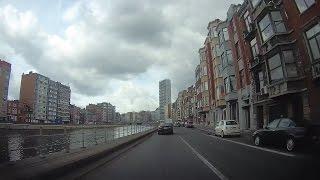 Belgium : former transit route through Liège