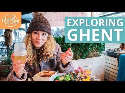 EXPLORING GHENT, BELGIUM - Waterzooi & Steak Frites, Gravensteen, Cathedral & Belfry Tower