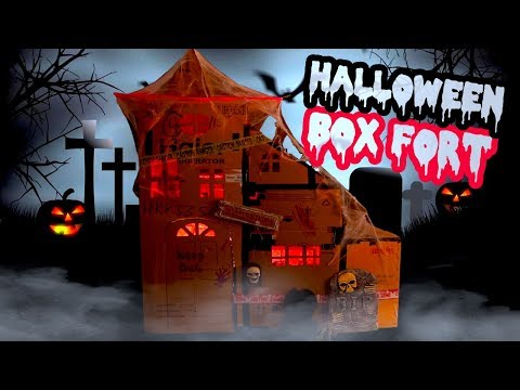 BOX FORT HAUNTED HALLOWEEN MANSION HOUSE
