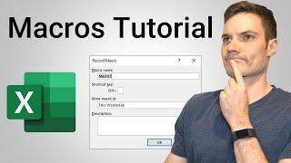 How to Create Macros in Excel Tutorial