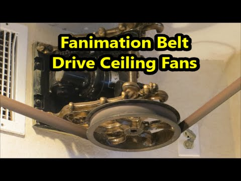 Antique Ceiling Fans Belt Driven Fanimation belt driven ceiling fans ...