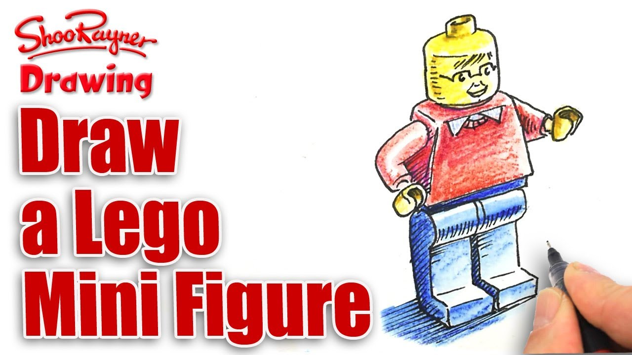 How to draw a lego Mini Figure