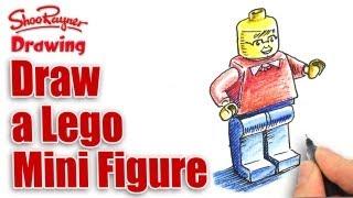 How to draw a lego Mini Figure