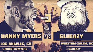 DANNY MYERS VS GLUEAZY SMACK/ URL RAP BATTLE | URLTV