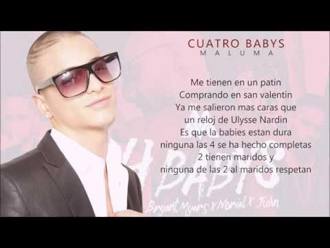 Maluma Cuatro Bas LETRA ft Bryant Myers, Noriel y juhn