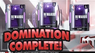 FIRST TO COMPLETE DOMINATION - NBA 2K18 MYTEAM REWARDS!!