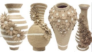 Best collection 5 jute flower vase | Home decorating ideas handmade