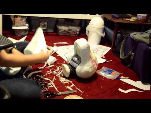 Time Lapse: Creating a mascot/fursuit foam base