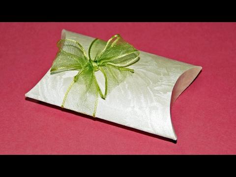 Geschenkbox Basteln Pillow Box Für Geldgeschenke Und