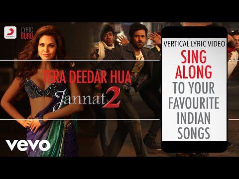 Tera Deedar Hua - Jannat 2|Official Bollywood Lyrics|Anupam Amod|Rahat Fateh Ali Khan