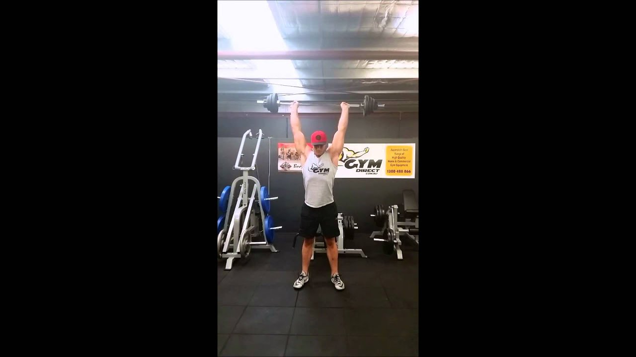 Clean And Press Demo On The 5ft Compact Olympic Barbell 700lbs You