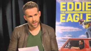I Crashed the Eddie the Eagle Junket 2016 interview bettwen  Ryan Reynolds & hugh jackman