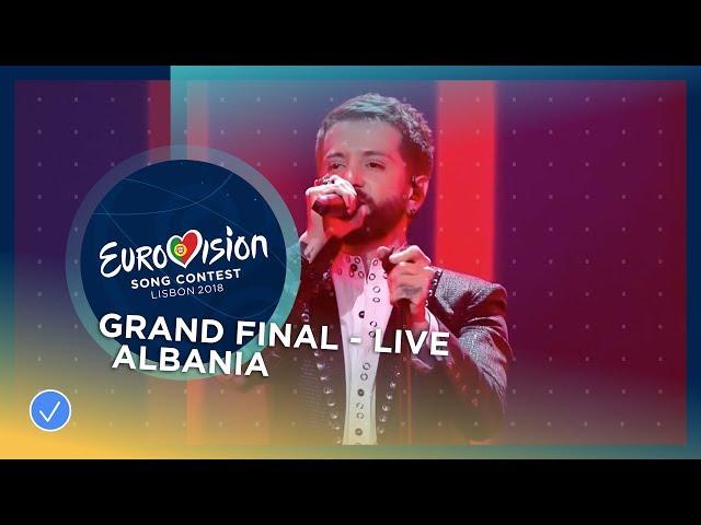 Eugent Bushpepa - Mall - Albania - LIVE - Grand Final - Eurovision 2018