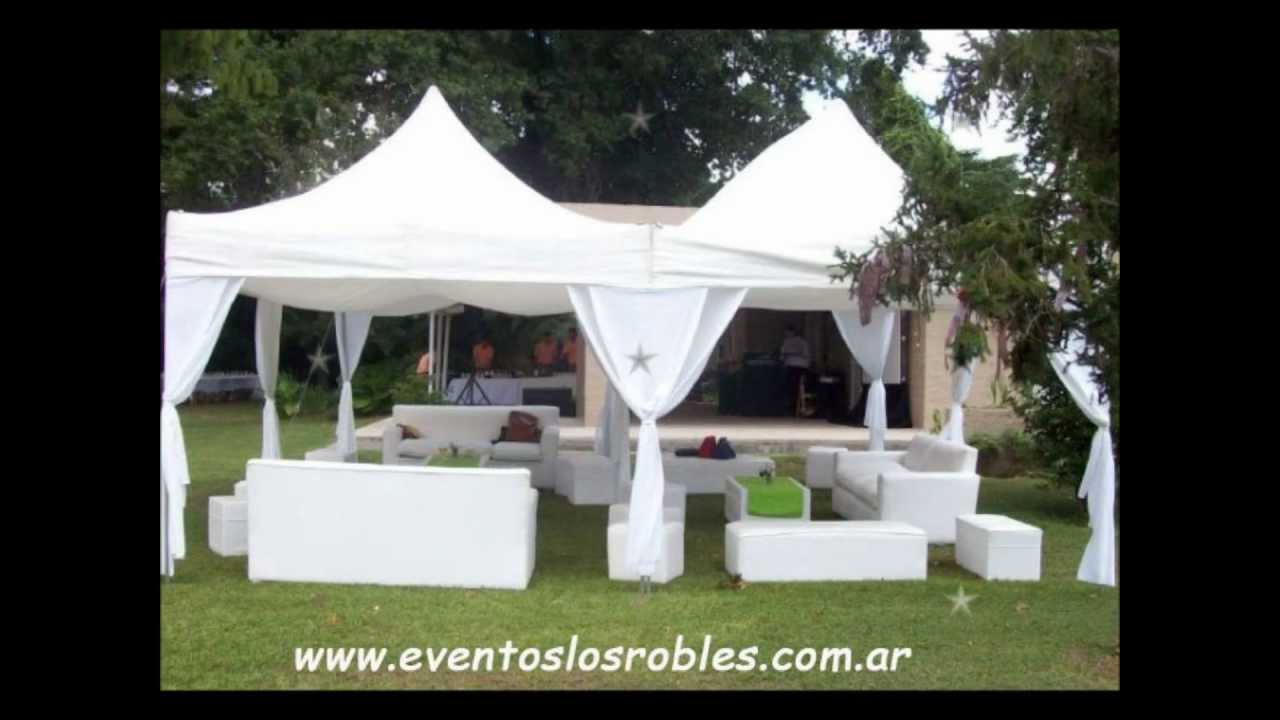 Carpas para fiestas eventos youtube for Carpas jardin alcampo