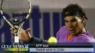 Tennis: Rafael Nadal beats Jeremy Chardy - GN Midday Sunday Feb 10 2013