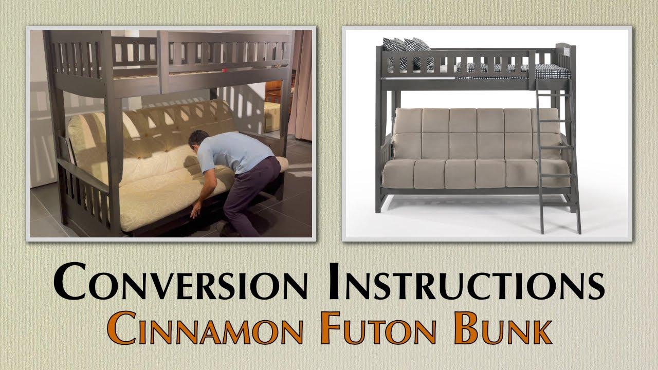 Night Day Furniture Cinnamon Futon Bunk
