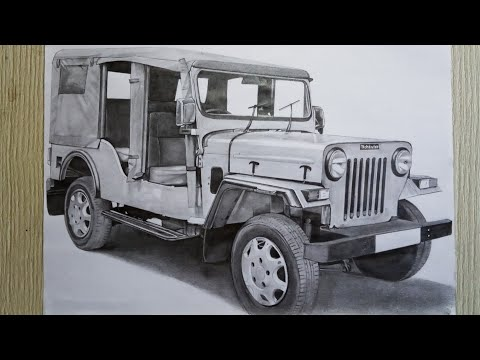 Mahindra Commander Pencil Sketch