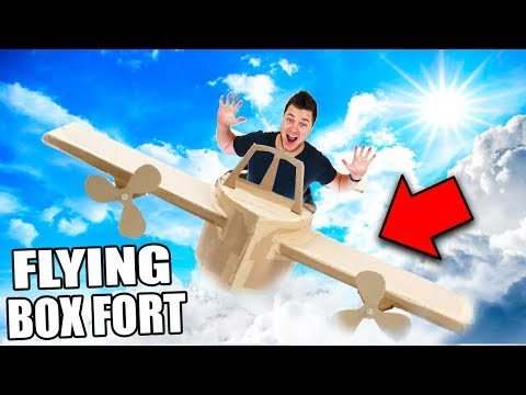 FLYING BOX FORT CHALLENGE! 📦 (GONE WRONG!)