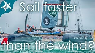 How do sailboats sail faster than the wind??