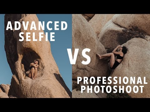Advanced Selfie Vs. A Pro Photographer: Art Battle In The Californian Desert