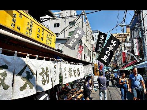Tsukiji Ichiba Market Street - Tokyo ᴴᴰ ●  築地場外市場  東京