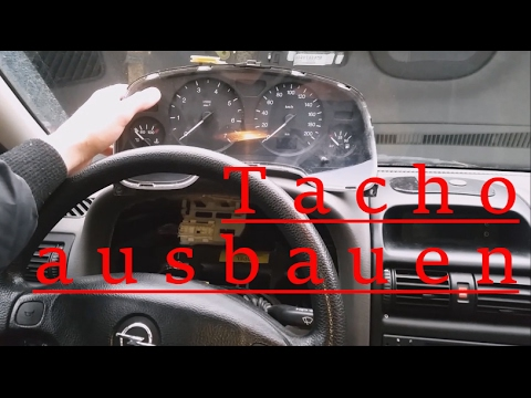 tacho ausbauen tachobeleuchtung wechseln opel astra g how to remove a speedometer youtube. Black Bedroom Furniture Sets. Home Design Ideas