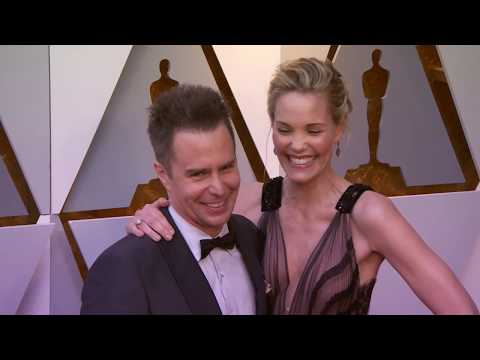 Oscars 2018 Arrivals: Sam Rockwell and Leslie Bibb