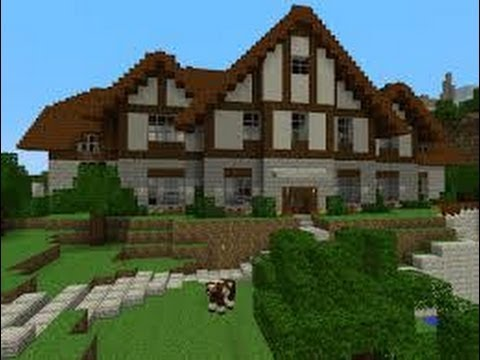 Minecraft how to build a simple and a hard house youtube for How to build an a frame home