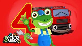 Counting 5 Big Trucks | Gecko's Garage | Trucks For Children | Cartoons For Kids