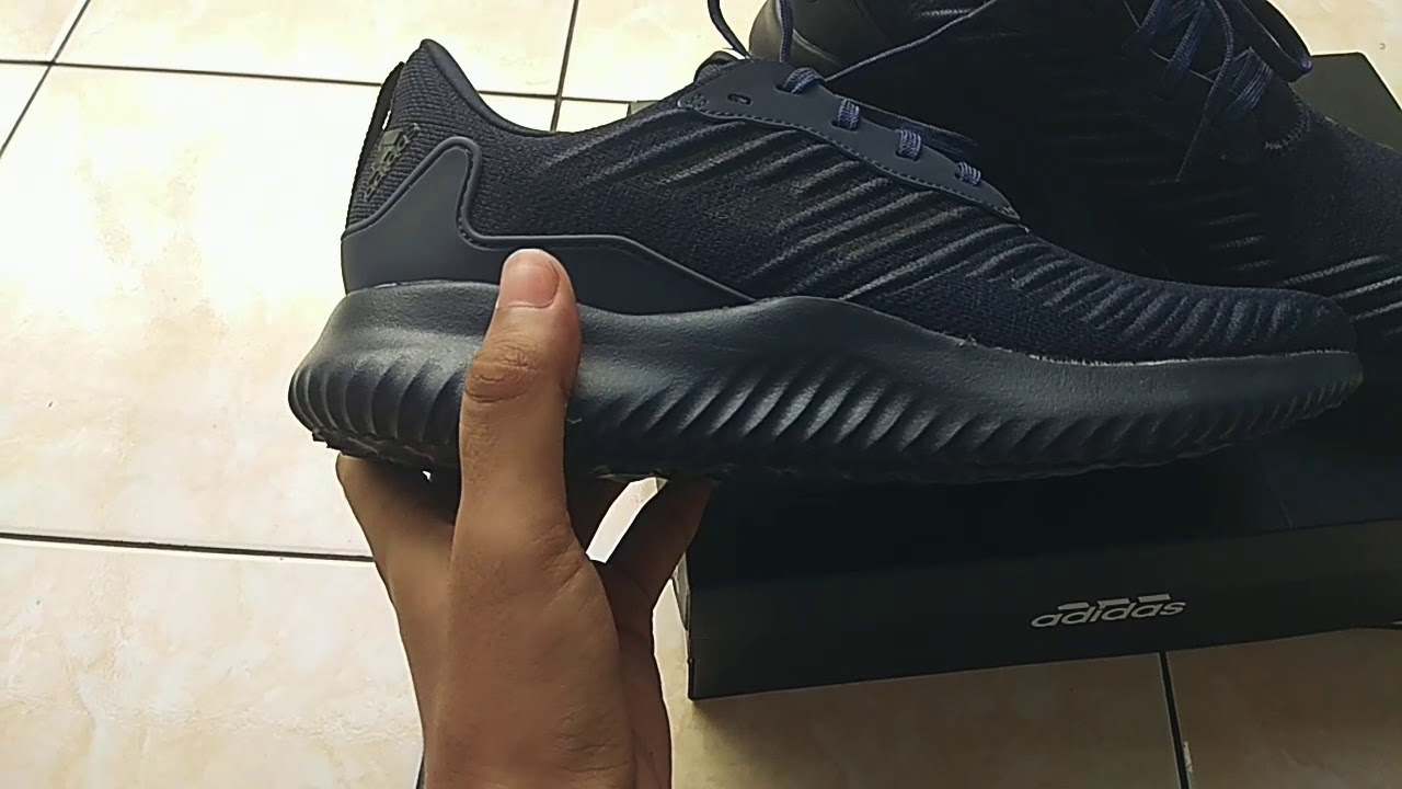 sobrina champú Línea del sitio  Unboxing, Quick Review, on Feet Adidas Alphabounce RC M Navy. (Bahasa  Indonesia) - YouTube