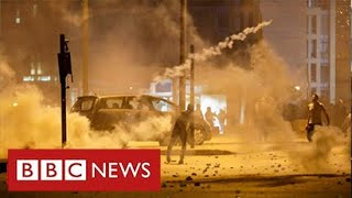 "French President warns Lebanon must not ""slide into chaos"" - BBC News"