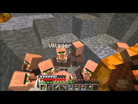 andrew19andrew30's Minecraft Multiplayer World E36:  How I Get Rich With Villagers
