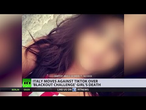 'Blackout challenge' | Italy moves against TikTok over 10yo girl's death