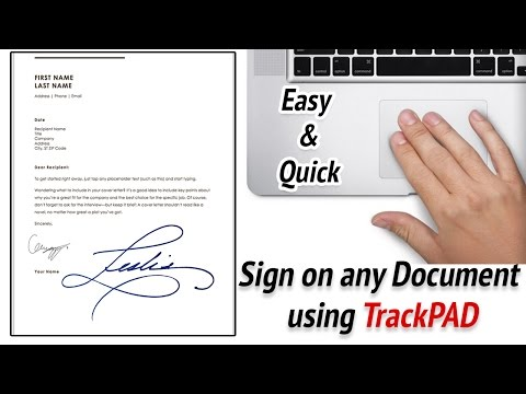 How to add a signature on macbook air