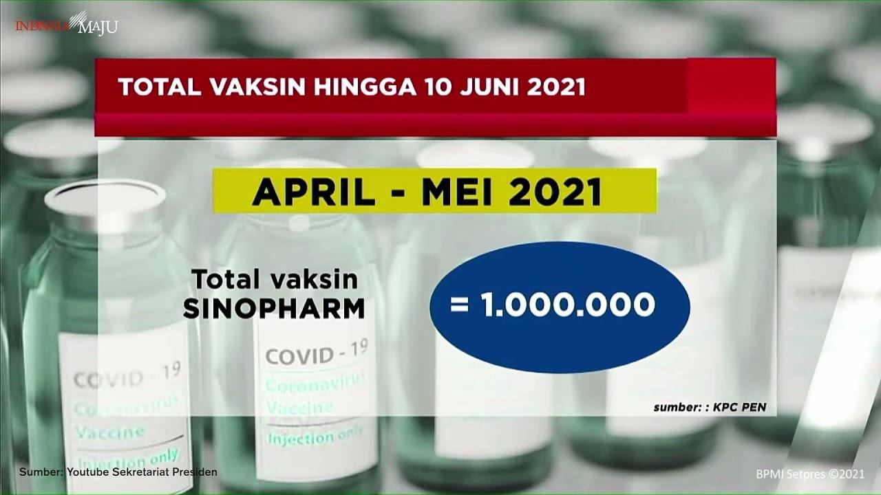 Jumlah Dosis Vaksin yang Telah Tiba Di indonesia Hingga 10 Juni 2021 | HSN