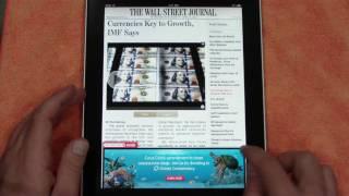 iPad Wall Street Journal App (Free & Subscription)