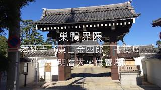 巣鴨界隈「本妙寺(東山金四郎、千葉周作墓、明暦大火供養塔)」